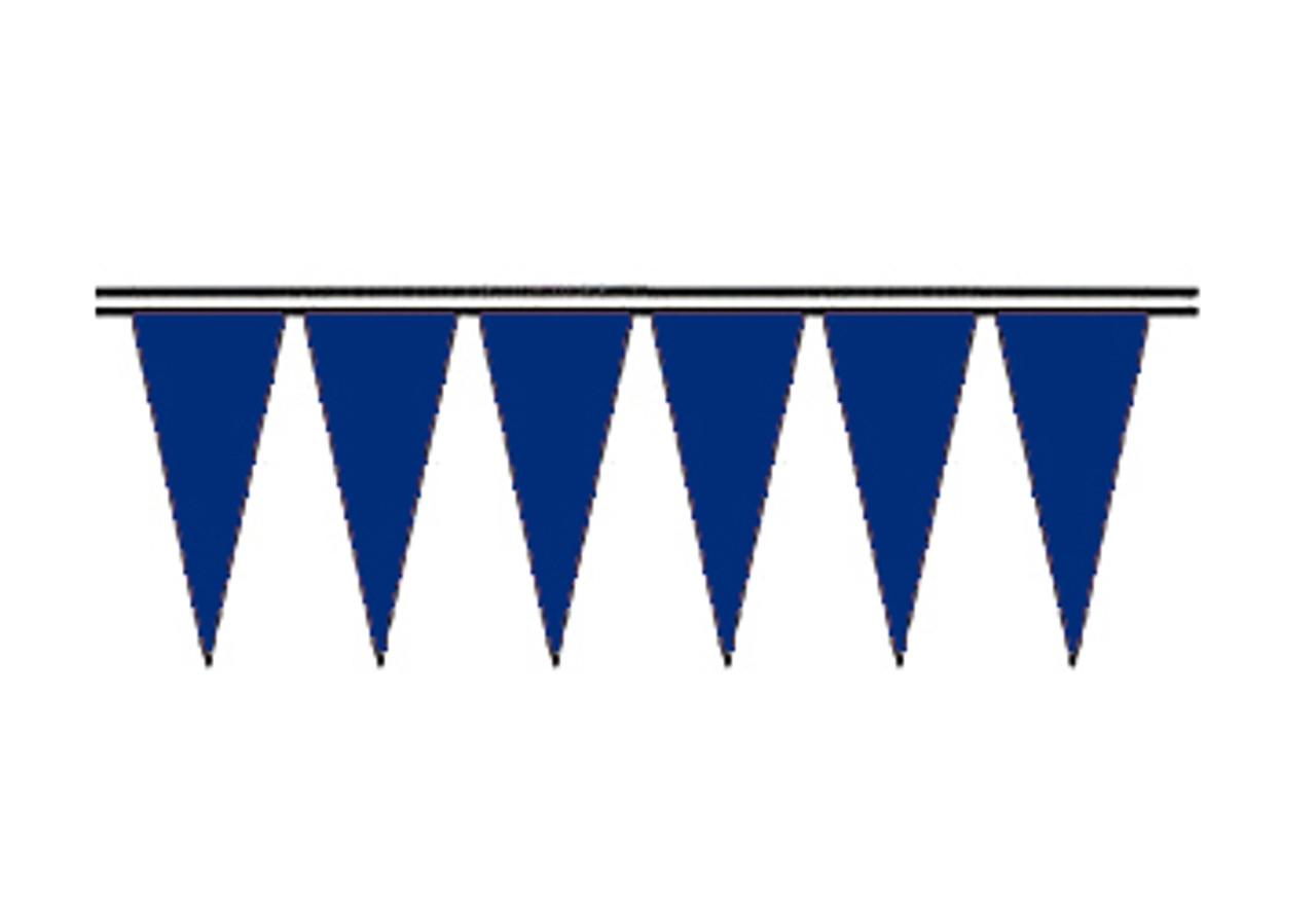 Deep Blue Fluorescent Icicle Pennants