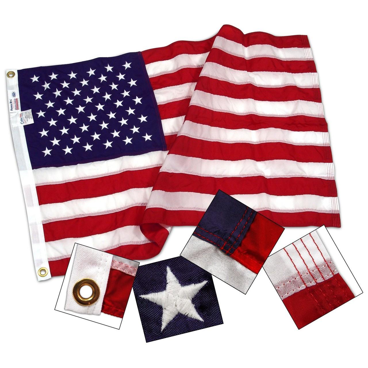 American Flag, Nylon 12x18