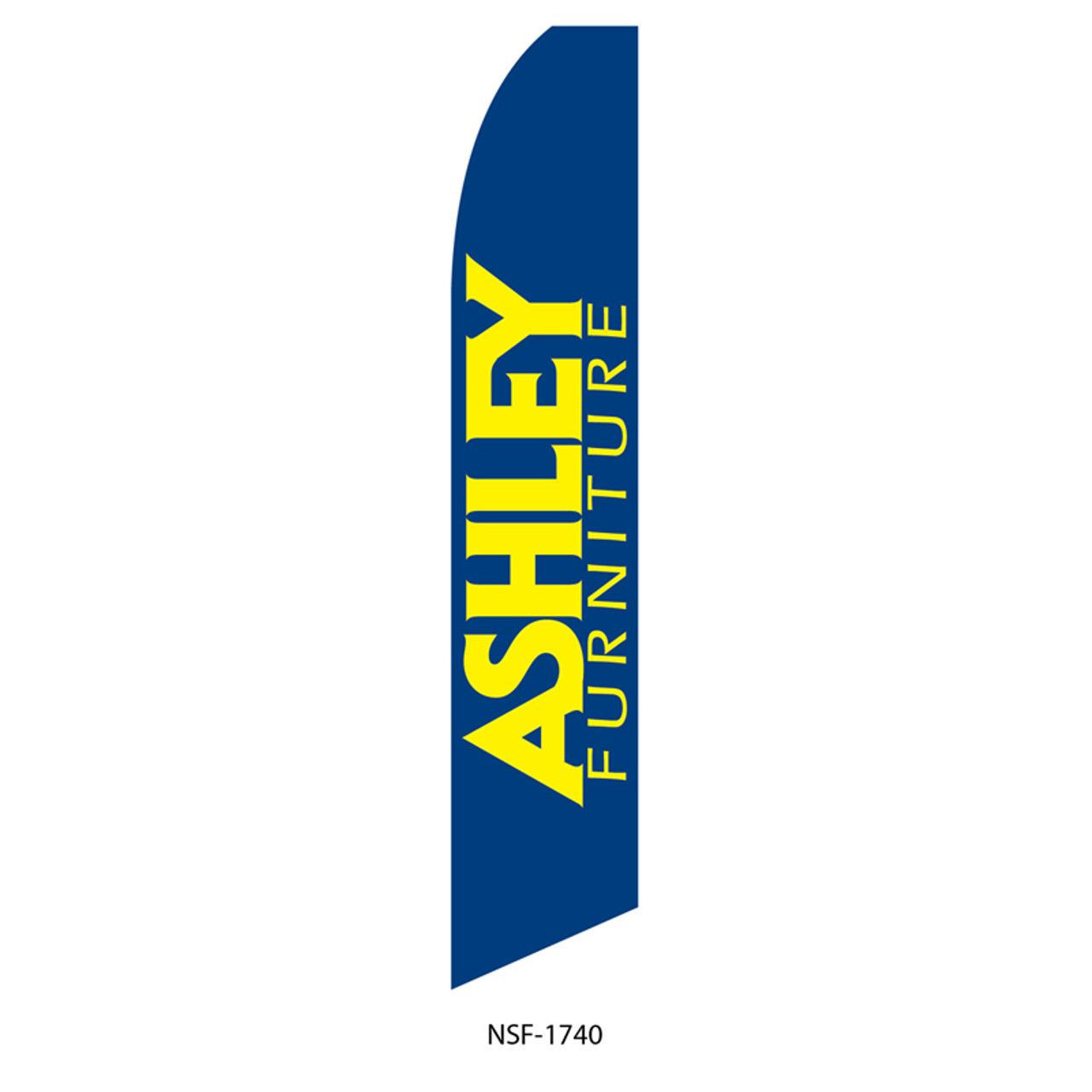 Ashley Furniture Feather Flag blue yellow
