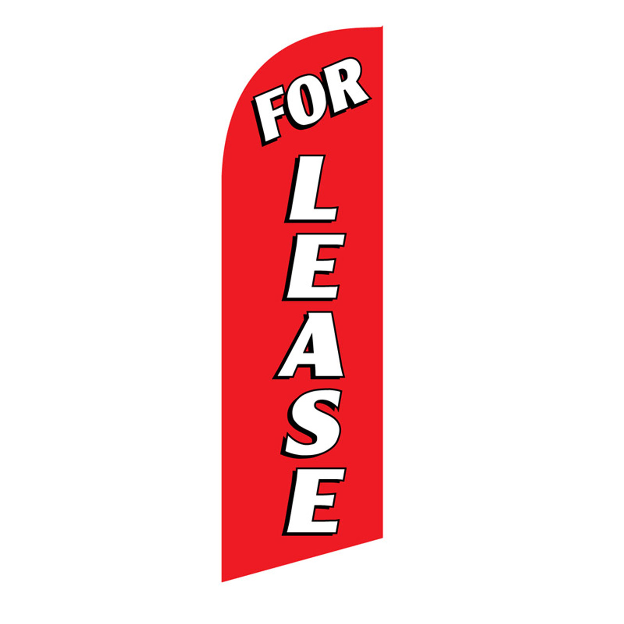 For Lease 6ft Feather Flag red