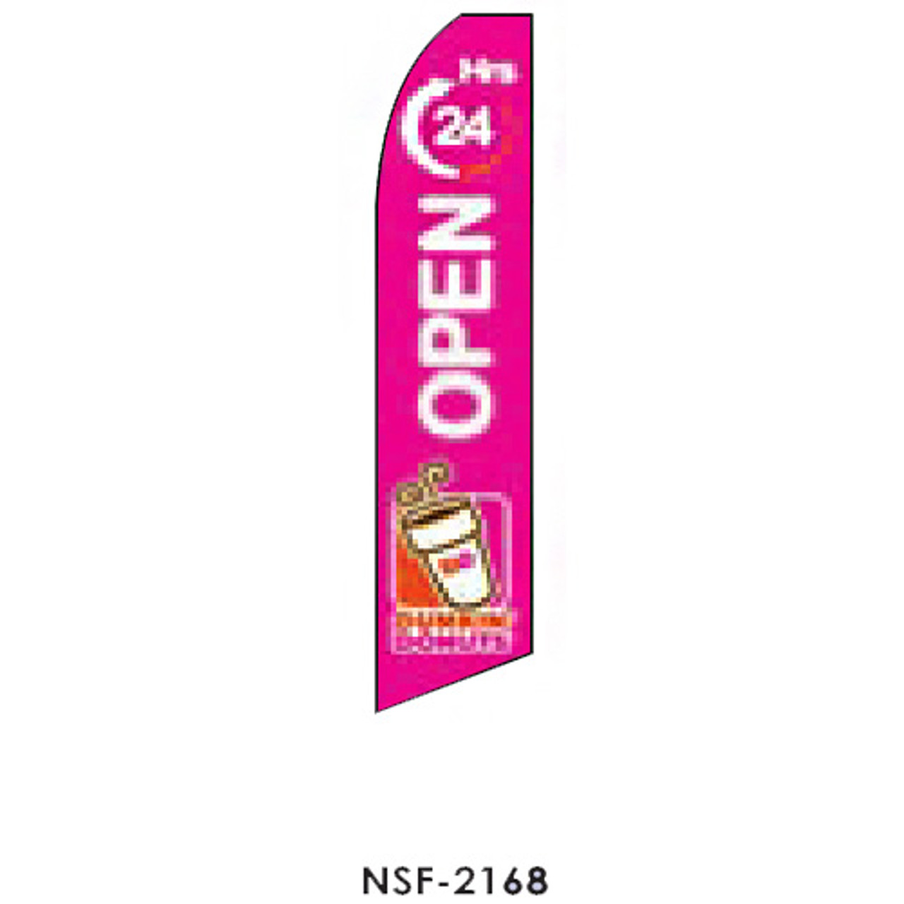 Dunkin Donuts (Open 24 hours) Feather Flag