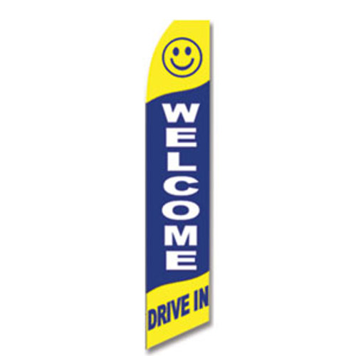 Welcome Drive In Feather Flag