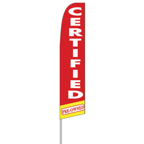 Certified Pre-Owned Feather Flag