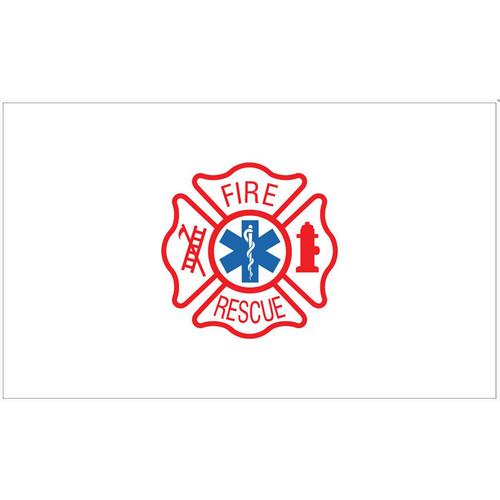 Fire Rescue Maltese Cross Flag