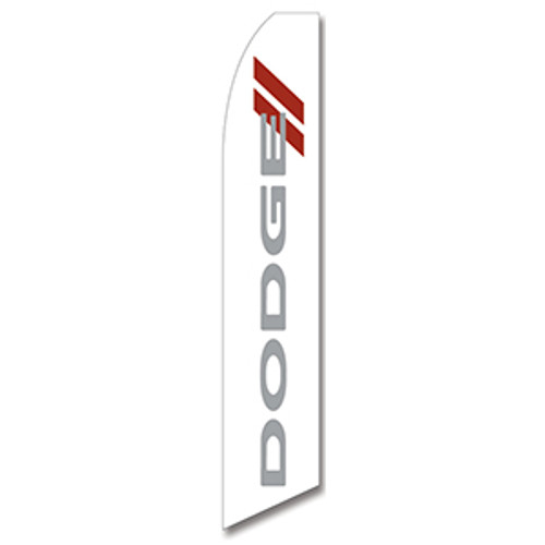 Dodge Dealership (White) Feather Flag