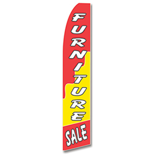 Furniture Sale (Red/Yellow) Feather Flag