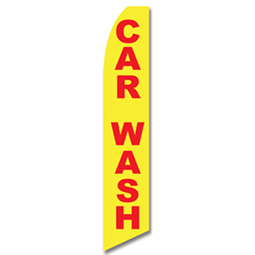 Car Wash (Red/Yellow) Feather Flag