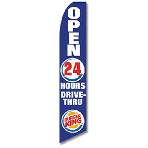 Burger King (Blue) Feather Flag