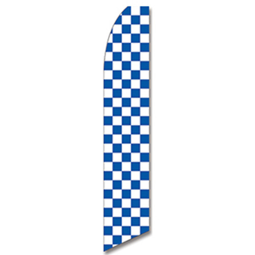 Blue and White Checkered Feather Flag