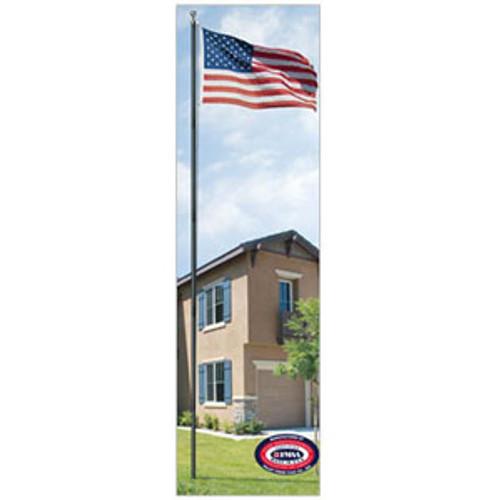 18' All American Black Flagpole