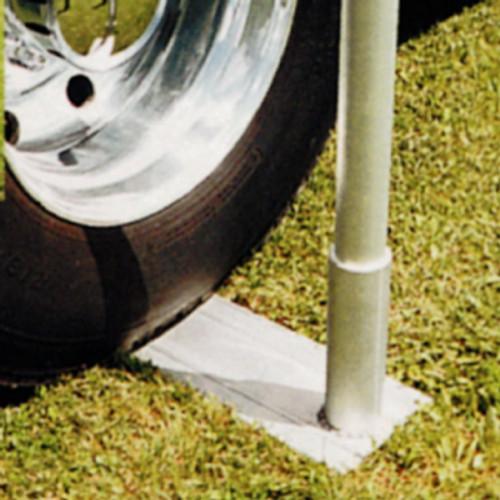 Aluminum Telescoping Flagpole Tire Mount