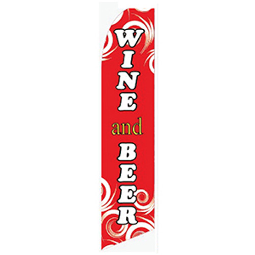 Wine and Beer Feather Flag