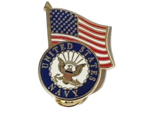 Navy/U.S. flag lapel pin