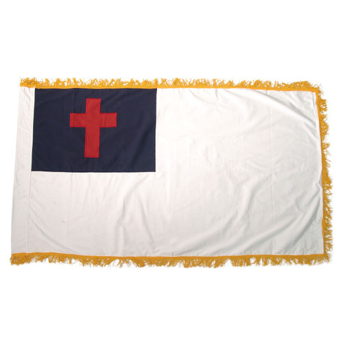 Christian Sewn Fringed Flag