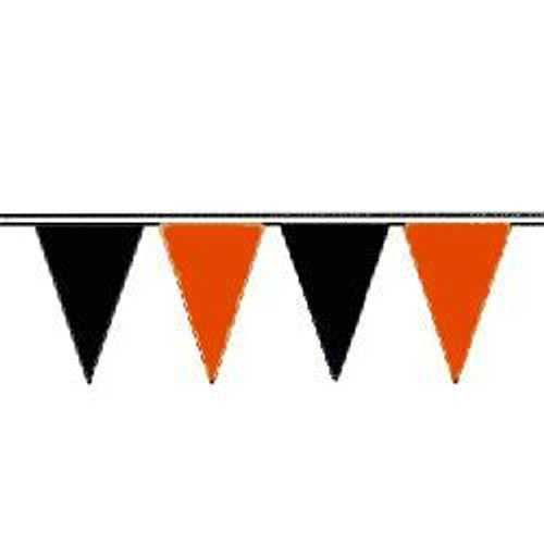 Orange and Black string pennant