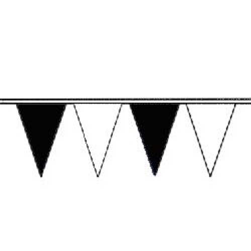 Black and White String Pennant