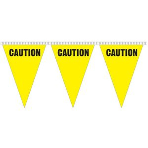 """Caution"" String Pennants"