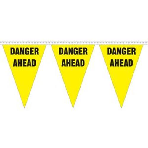 """""""Danger Ahead"""" String Pennants"""
