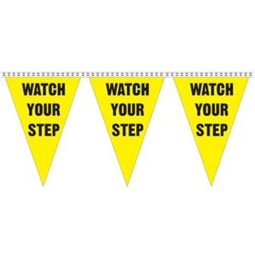 """""""Watch Your Step"""" String Pennants"""