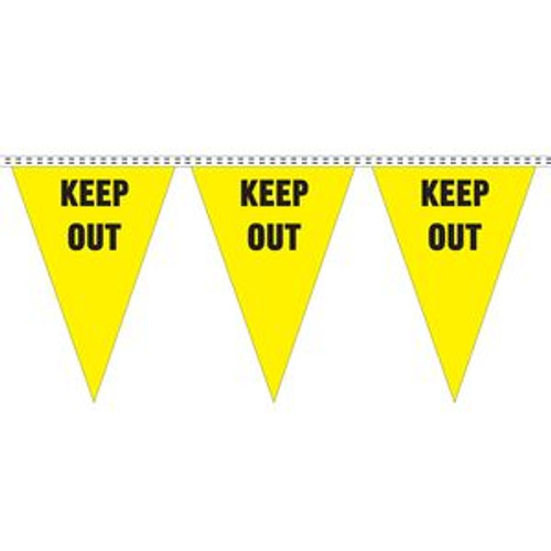 """""""Keep Out"""" String Pennants"""