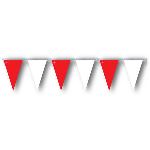Red and White string pennant