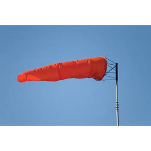 "18"" x 5' Orange Nylon Airport Windsocks"