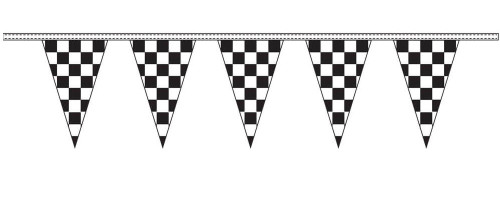 Black and White Checkered Pennants