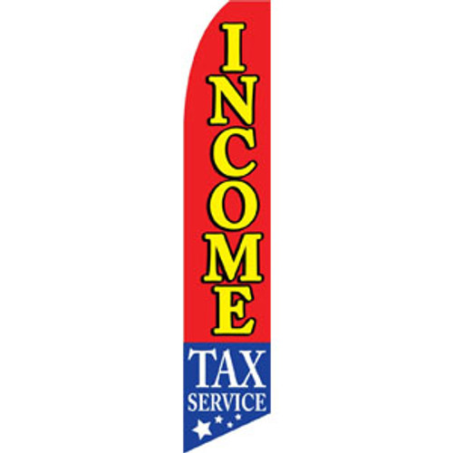 Income Tax Service Feather Flag