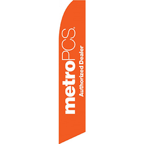 Metro PCS Authorized Dealer (Orange) Feather Flag