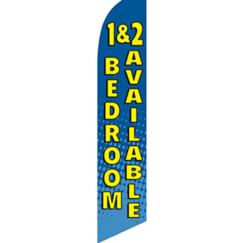 1& 2 Bedrooms Available Feather Flag