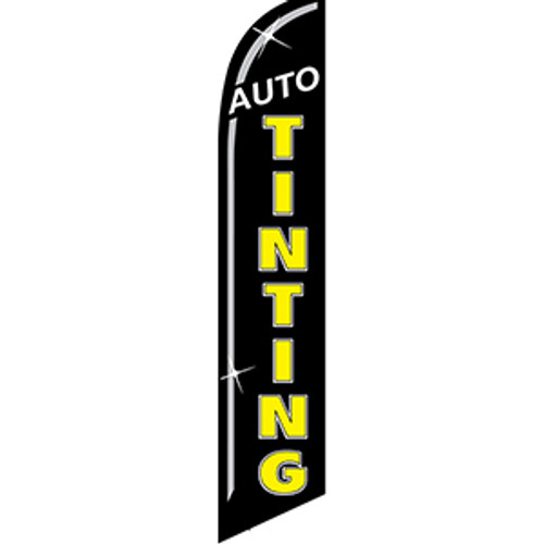 Auto Tinting Feather Flag black yellow