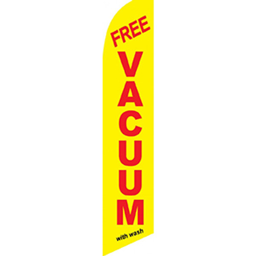 Yellow Free Vacuum Feather Flag