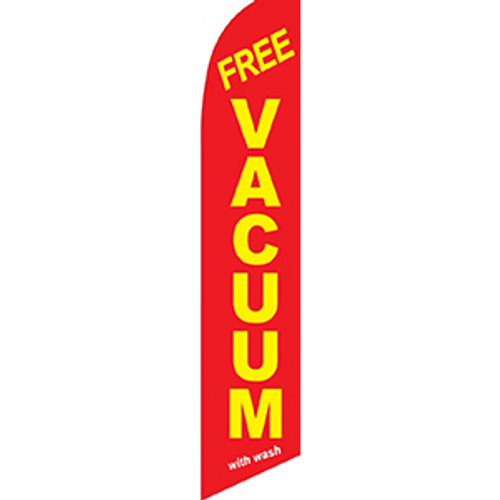 Red Free Vacuum Feather Flag