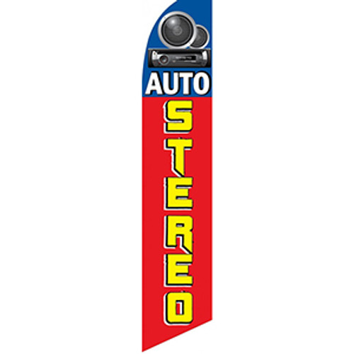 Auto Stereo Feather Flag