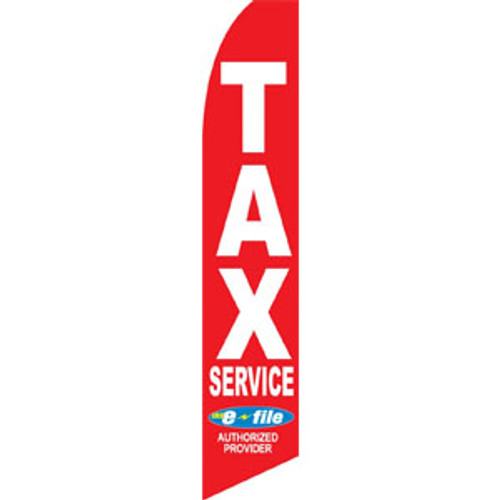 Red Tax Service E-File Feather Flag