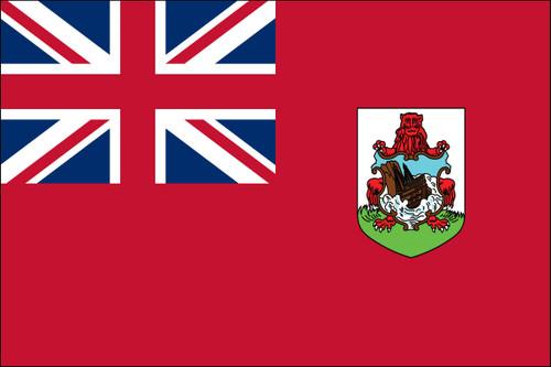 """Bermuda - 4"""" x 6"""" Miniature Stick Flag"""
