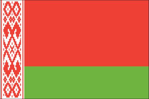 "Belarus - 4"" x 6"" Minature Stick Flags"