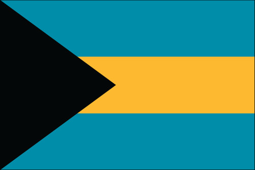 "Bahamas - 4"" x 6"" Minature Stick Flags"