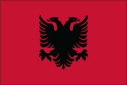 "Albania - 4"" x 6"" Minature Stick Flags"