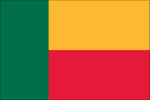"Benin - 4"" x 6"" Minature Stick Flags"