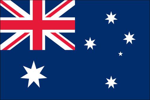 "Australia - 4"" x 6"" Minature Stick Flags"