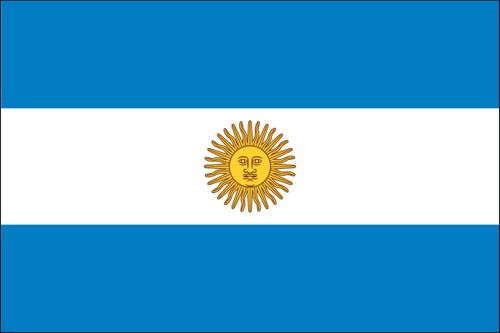 "Argentina - 4"" x 6"" Minature Stick Flags"