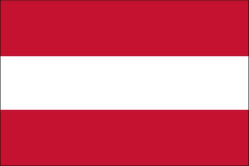 "Austria - 4"" x 6"" Minature Stick Flags"