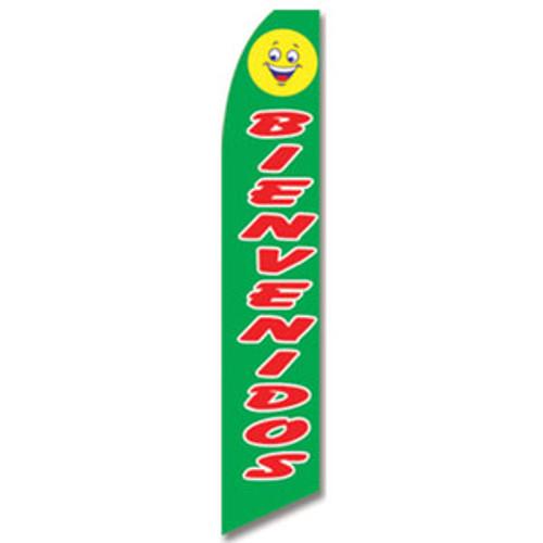 Bienvenidos Feather Flag