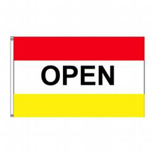 Open (Red, White & Yellow) Message Flag