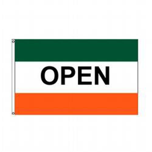 Open (Green, White & Orange) Message Flag