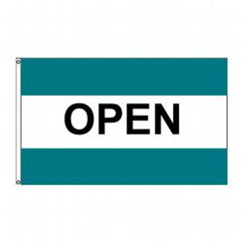 Open (Turquoise, White & Turquoise) Message Flag