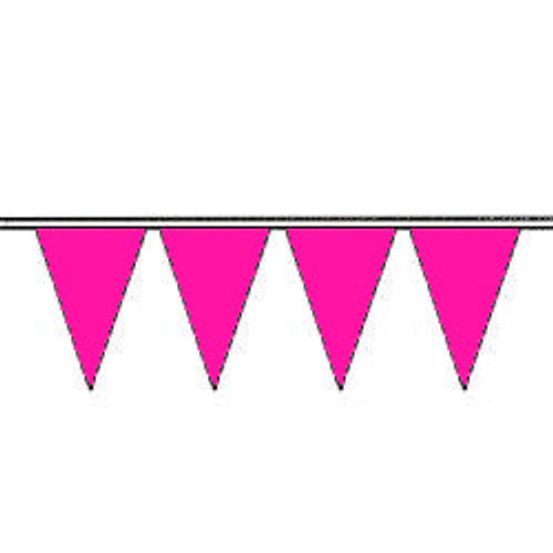 Flame Pink Fluorescent Pennants