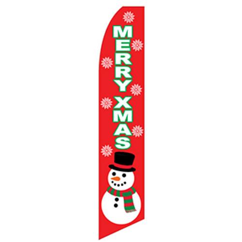 Merry Christmas Feather Flag