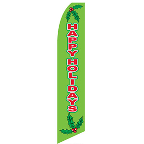 Happy Holiday Feather Flag (green)